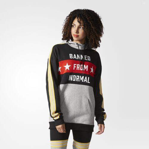 adidas - Hooded Sweatshirt Black  /  Medium Grey Heather AY7143