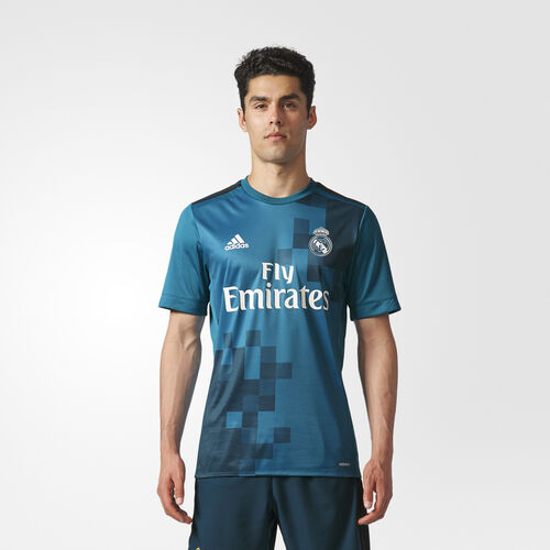 adidas - Real Madrid Third Authentic Jersey Vivid Teal  /  Solid Grey  /  White AZ8061