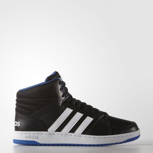 adidas - Hoops VS Mid Shoes Core Black  /  Running White Ftw  /  Blue F99588