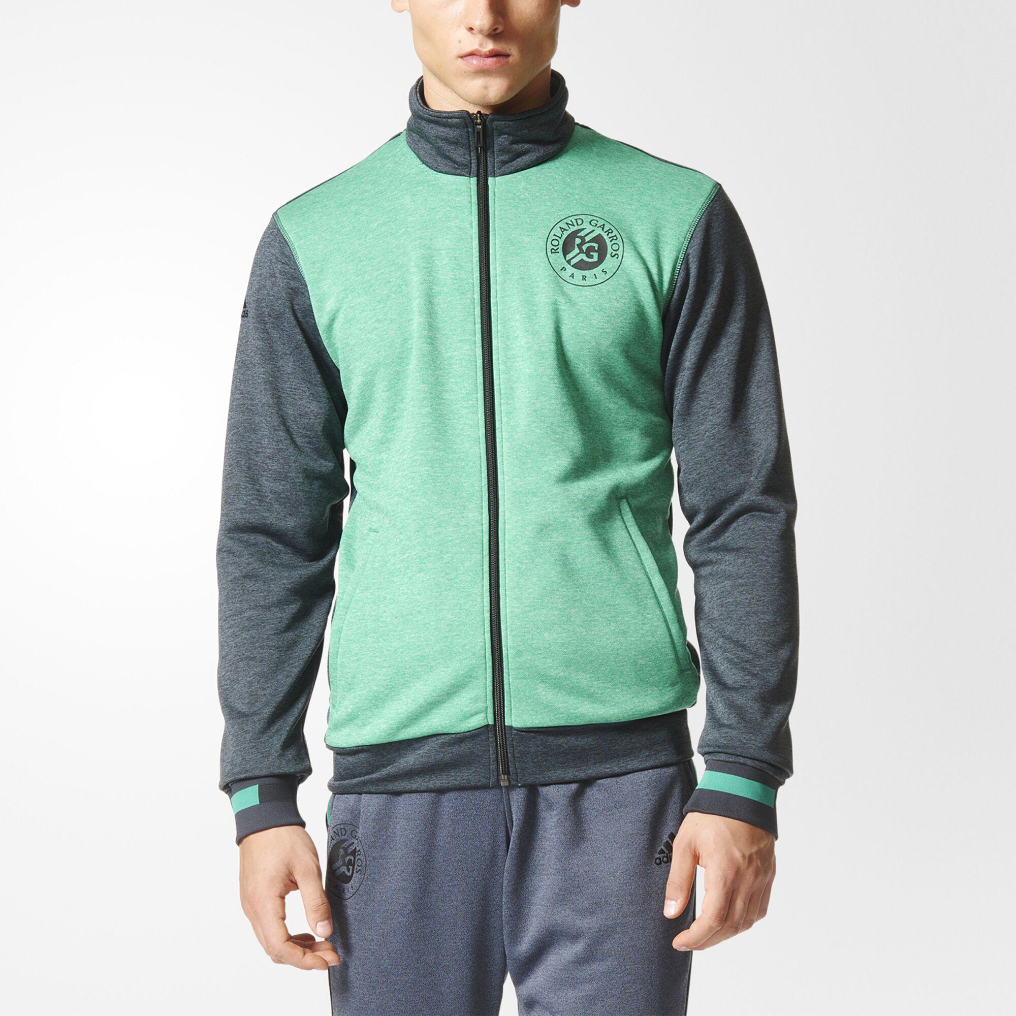 Adidas black and green jacket