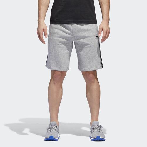 adidas - Essentials 3-Stripes Shorts Medium Grey Heather  /  Black BR3263