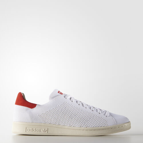 adidas - Stan Smith Primeknit Shoes Core White  /  Chalk White  /  Red S75147