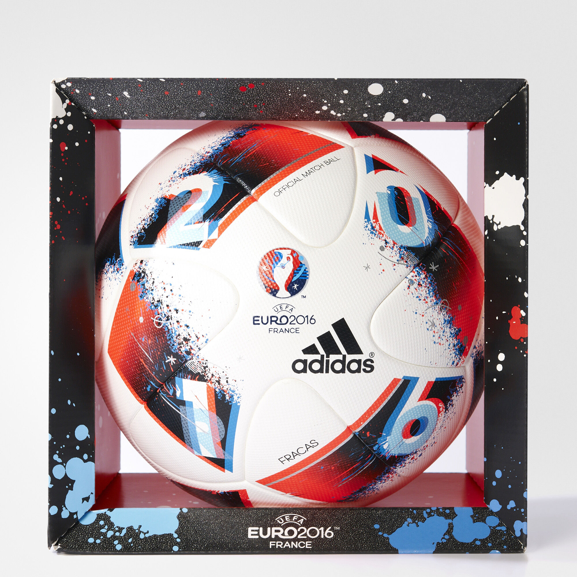 adidas uefa euro 2016 official match ball white adidas us. Black Bedroom Furniture Sets. Home Design Ideas