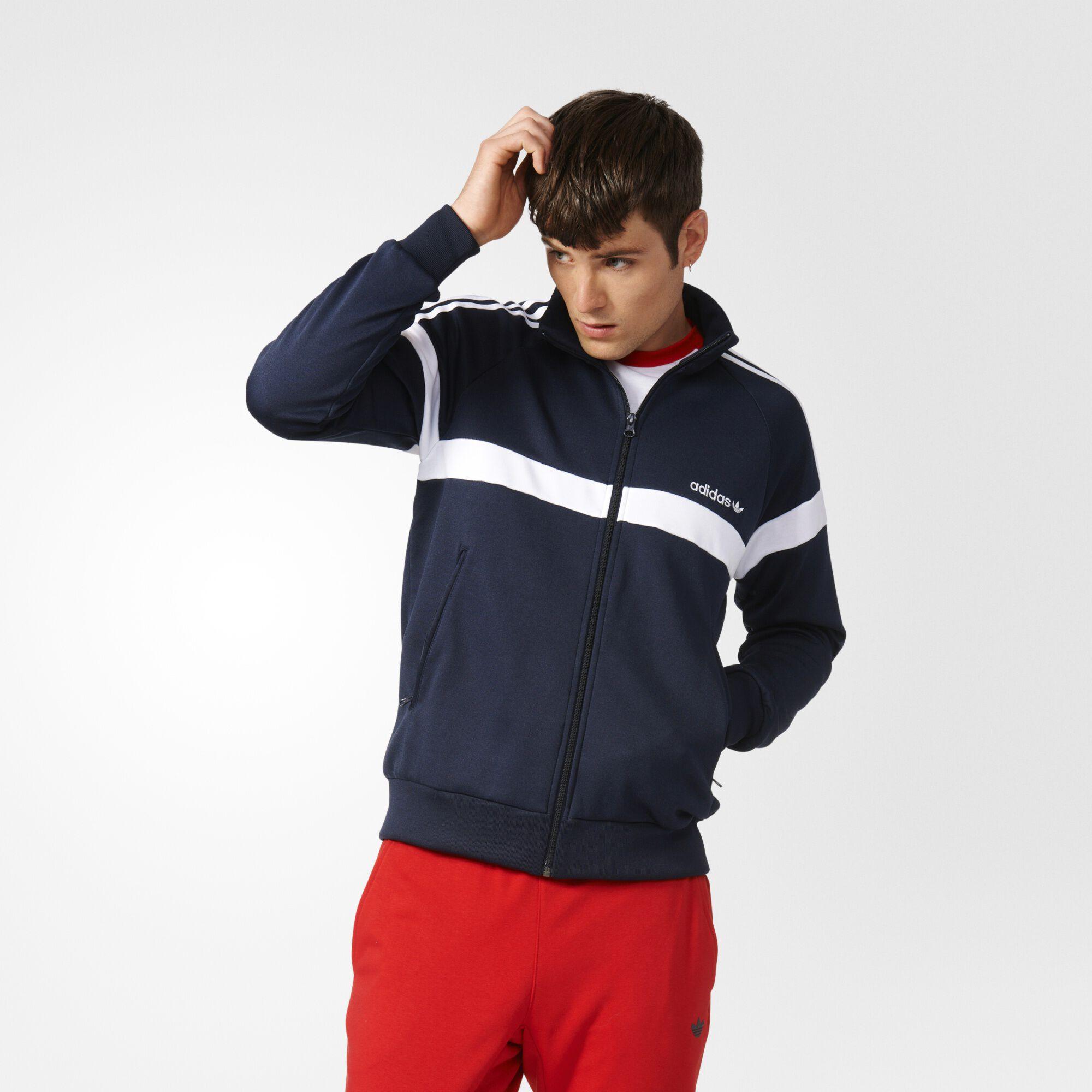 adidas burgundy track jacket