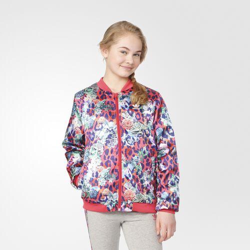 adidas - S Rose Satin Jacket Multicolor  /  White S96108