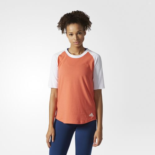 adidas - Infield Baseball Tee Easy Coral  /  White BP9226