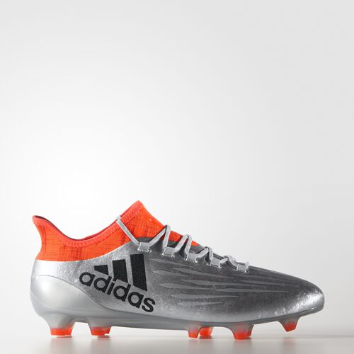 adidas - X 16.1 Firm Ground Cleats Silver Metallic  /  Core Black  /  Solar Red S81939