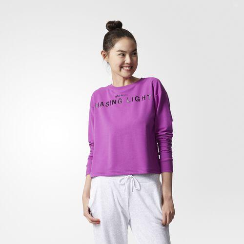adidas - Chasing Lights Sweatshirt Shock Purple  /  Black BK8034