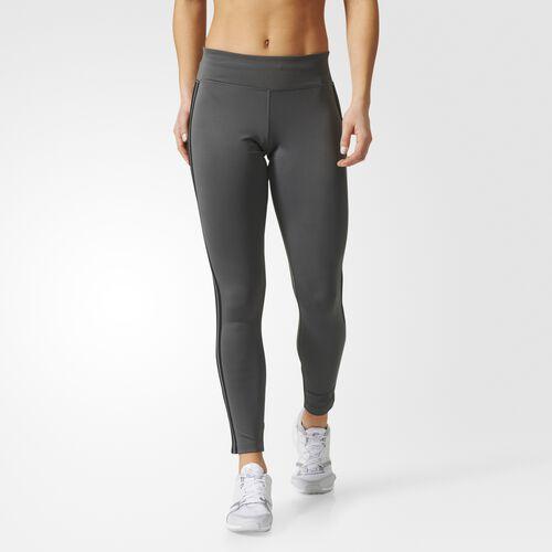 adidas - D2M Three Stripes Long Tights Grey  /  Black CF2302