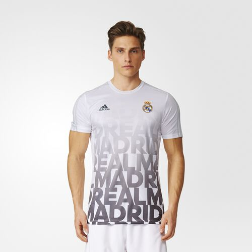 adidas - Real Madrid Home Pre-Match Shirt White  /  Light Grey AC6507