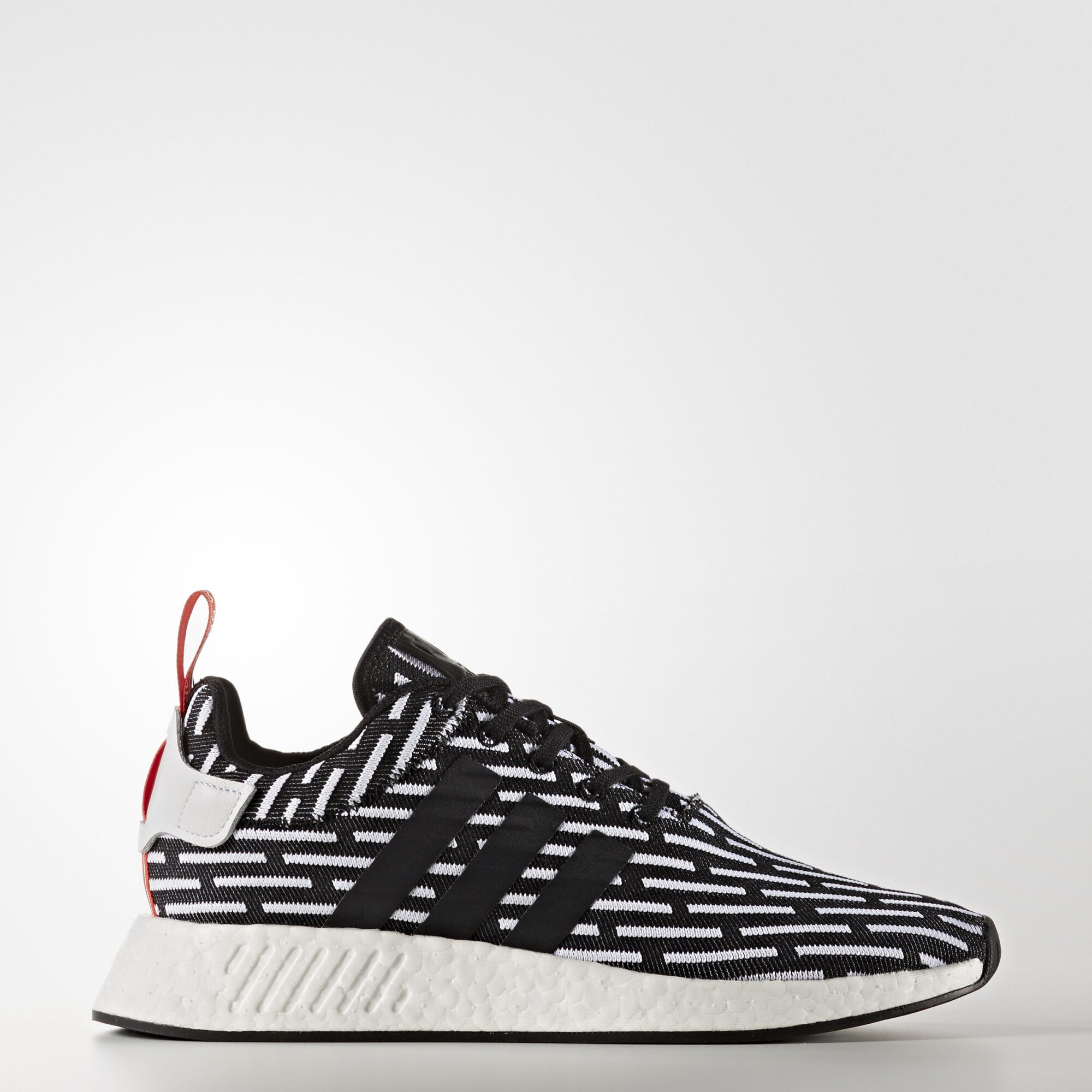 adidas NMD R2 Primeknit White Black BY3015