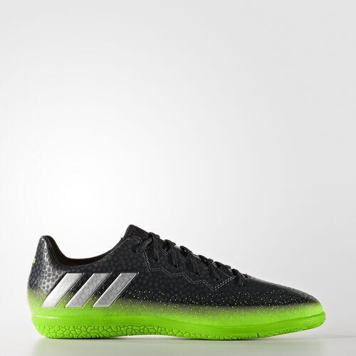 adidas - Messi 16.3 Indoor Shoes Grey  /  Metallic Silver  /  Neon Green AQ3521