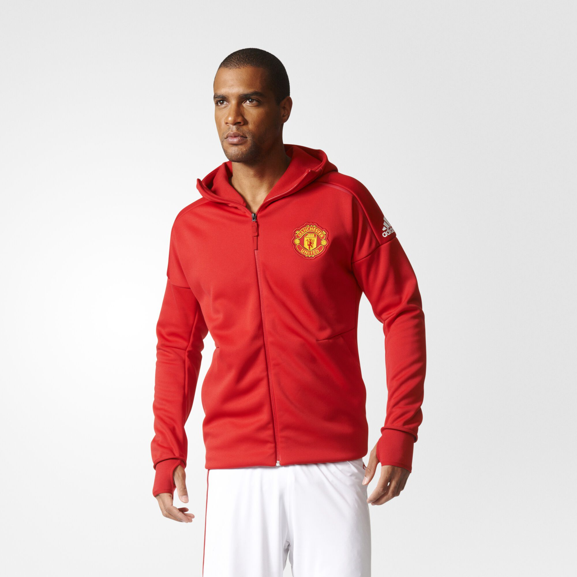 ... adidas - Manchester United Anthem Z.N.E. Hoodie Real Red / Power Red  BQ8743