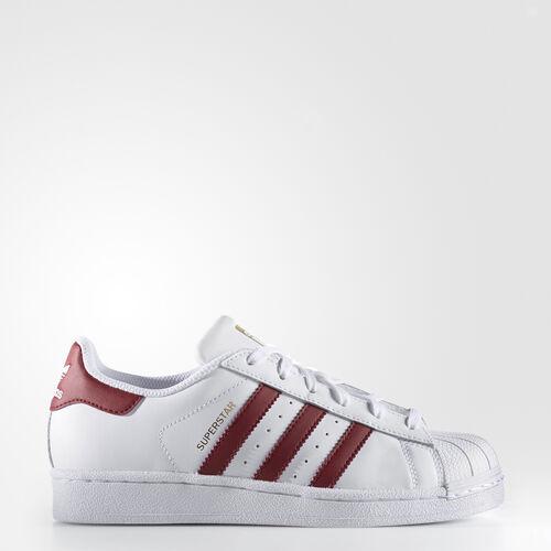 adidas - Superstar Shoes Running White Ftw  /  Cardinal  /  Metallic Gold S81015