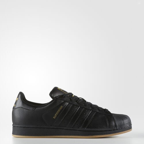 adidas - Superstar Shoes Core Black  /  Gold Metallic BY4358