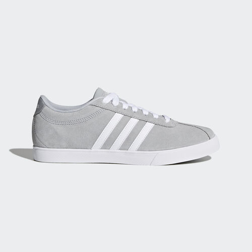 adidas - Courtset Shoes Clear Onix  /  Running White  /  Metallic Silver AW4209