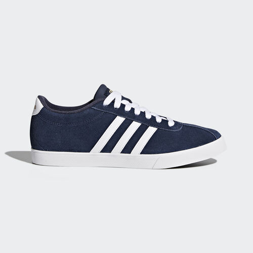 adidas - Courtset Shoes Collegiate Navy  /  Running White  /  Metallic Gold AW4212