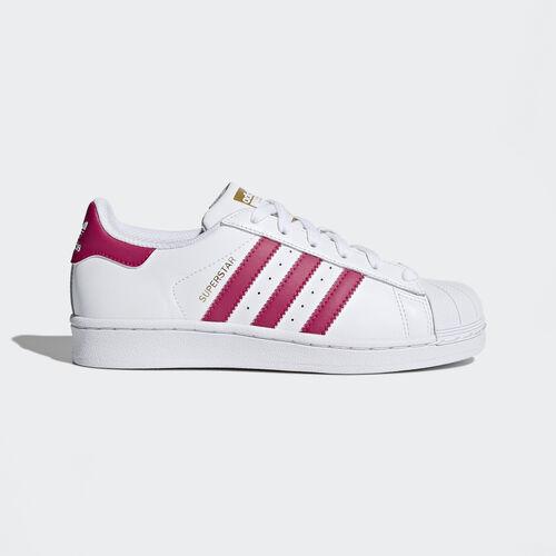 adidas - Superstar Foundation Shoes Running White Ftw  /  Pink Buzz  /  Running White B23644