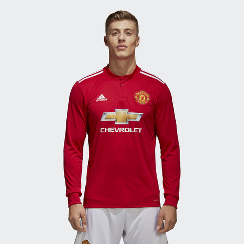 adidas - Manchester United Home Replica Jersey Real Red  /  White  /  Black AZ7586