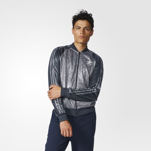 adidas - Essentials Superstar Track Jacket Night Grey AY8356