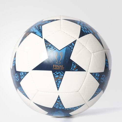adidas - Finale Cardiff Mini Ball White  /  Cyan AZ9608