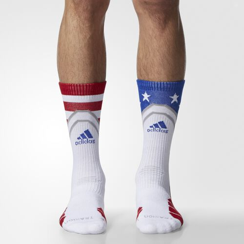 adidas - Stars and Stripes Crew Socks 1 Pair Power Red AN8681