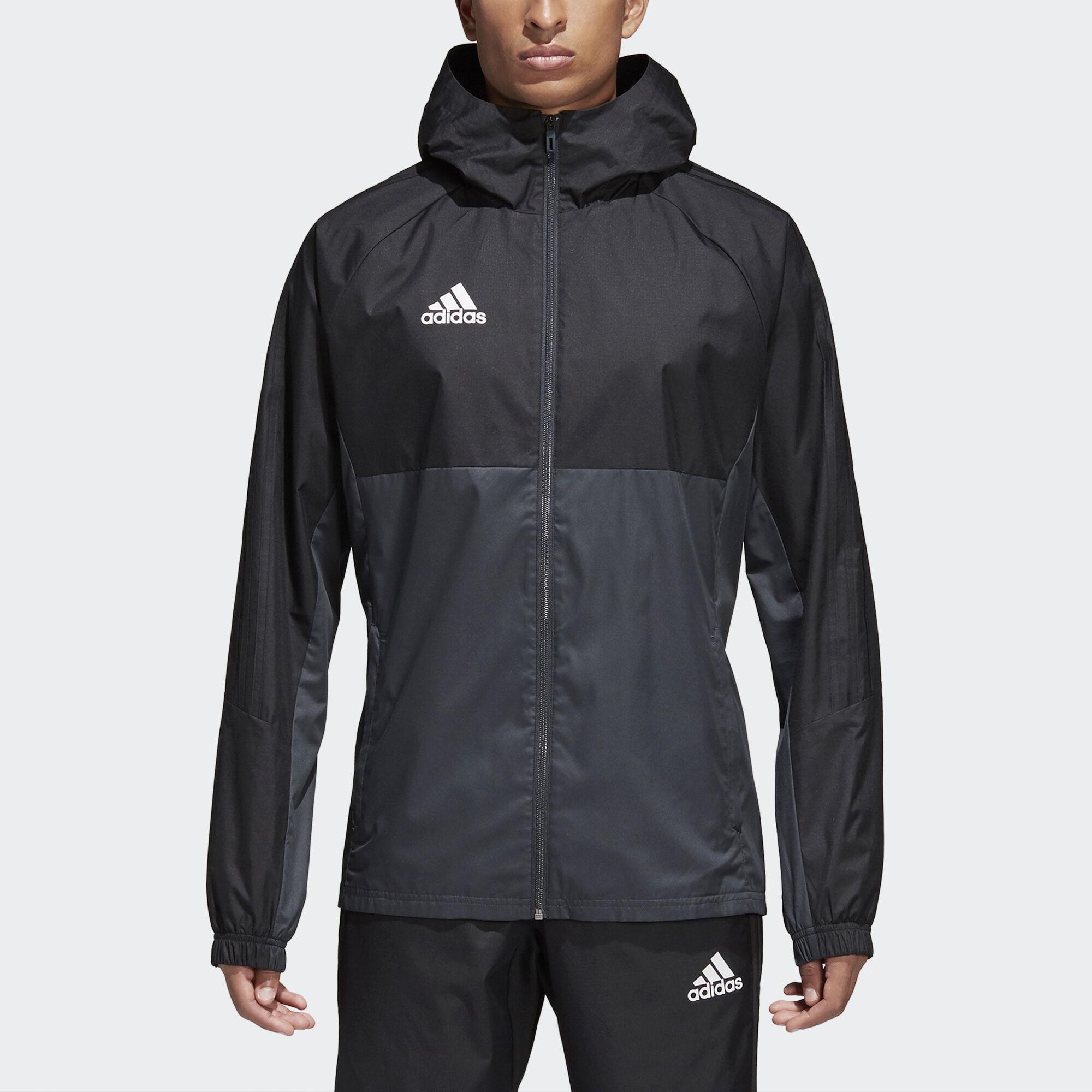 black adidas coat