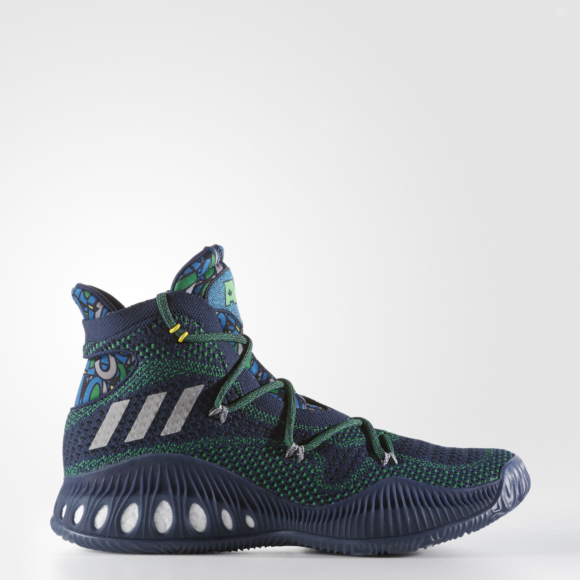 swirled green basketball shoes adidas