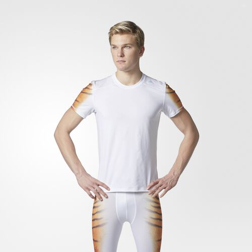 adidas - Techfit Uncaged Tiger Tee White CE9408