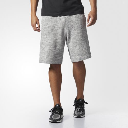 adidas - Essentials Heathered Piqué Shorts Medium Grey Heather BS3218