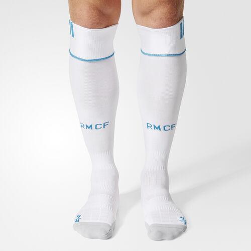 adidas - Real Madrid Home Socks 1 Pair White  /  Vivid Teal BK4803