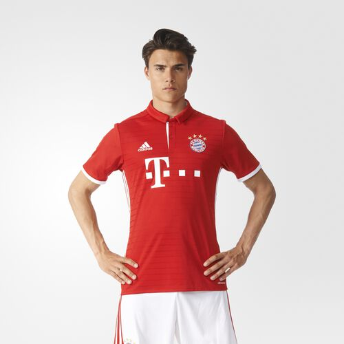 adidas - FC Bayern München Home Replica Jersey Fcb True Red  /  White AI0049