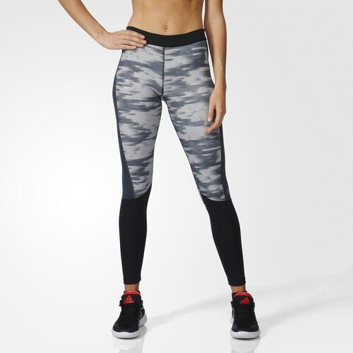 adidas - Techfit Graphic Long Tights Black  /  Black  /  Matte Silver AY5499