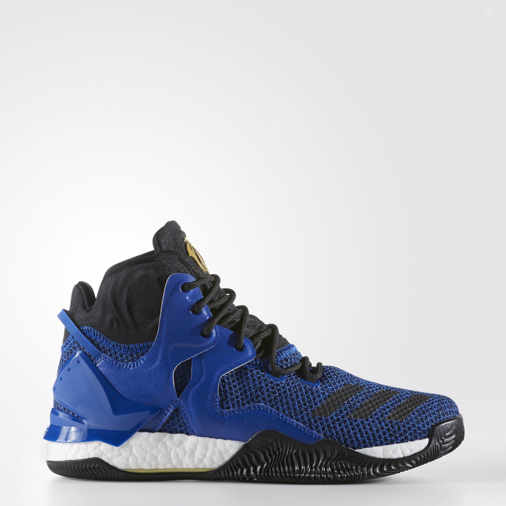 adidas - D Rose 7 Shoes Blue Solid / Black / Metallic Gold BB8290