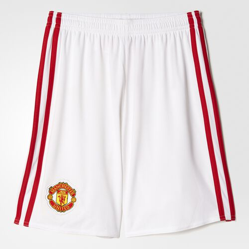 adidas - Manchester United FC Home Replica Shorts White  /  Real Red AI6712