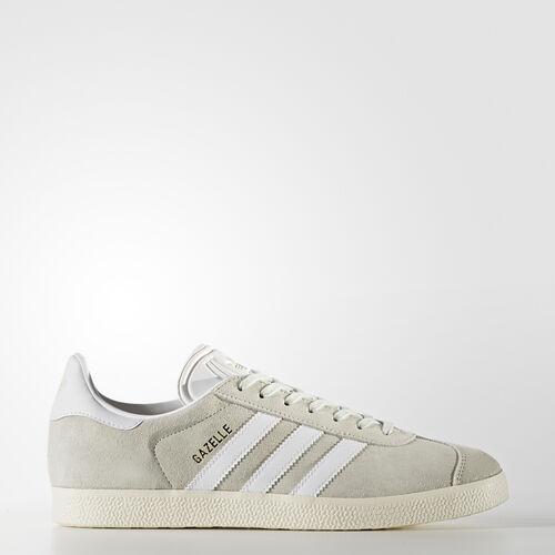 adidas - Gazelle Shoes Linen Green  /  Running White  /  Gold Metallic BZ0023