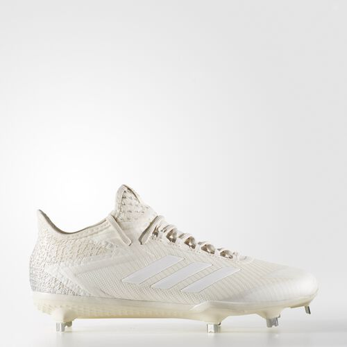 adidas - adizero Afterburner 4 Cleats Chalk White  /  Chalk  /  Metallic Silver B39158