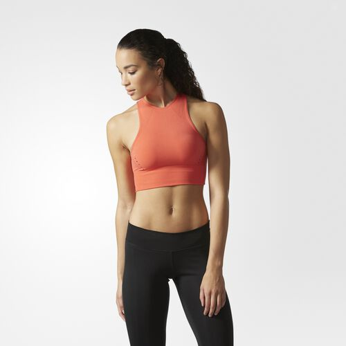 adidas - Wanderflow Warp Knit Crop Top Easy Coral CE7621