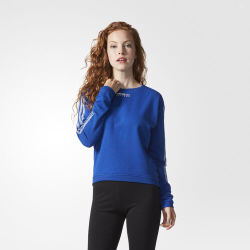 adidas - Graphic Sweatshirt Collegiate Royal  /  White AY5615