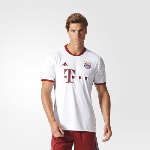 adidas - FC Bayern München UCL Replica Jersey White  /  Aluminum  /  Cardinal AZ4663