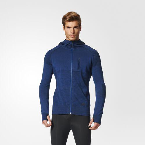adidas - Primeknit City Run Jacket Mystery Blue  /  Black B47001