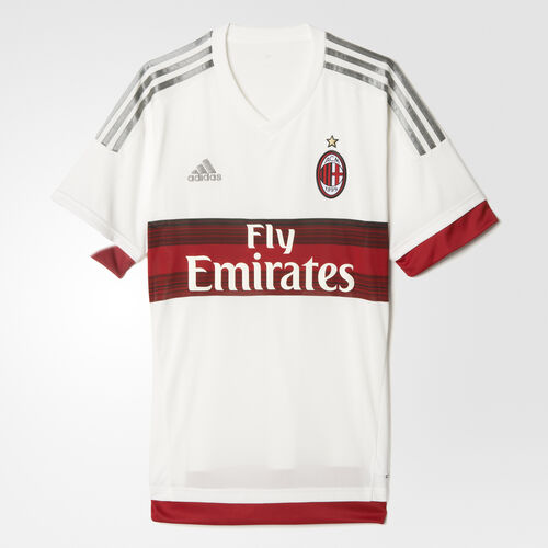 adidas - AC Milan Away Replica Jersey Core White  /  Victory Red  /  Charcoal Solid Grey S15643
