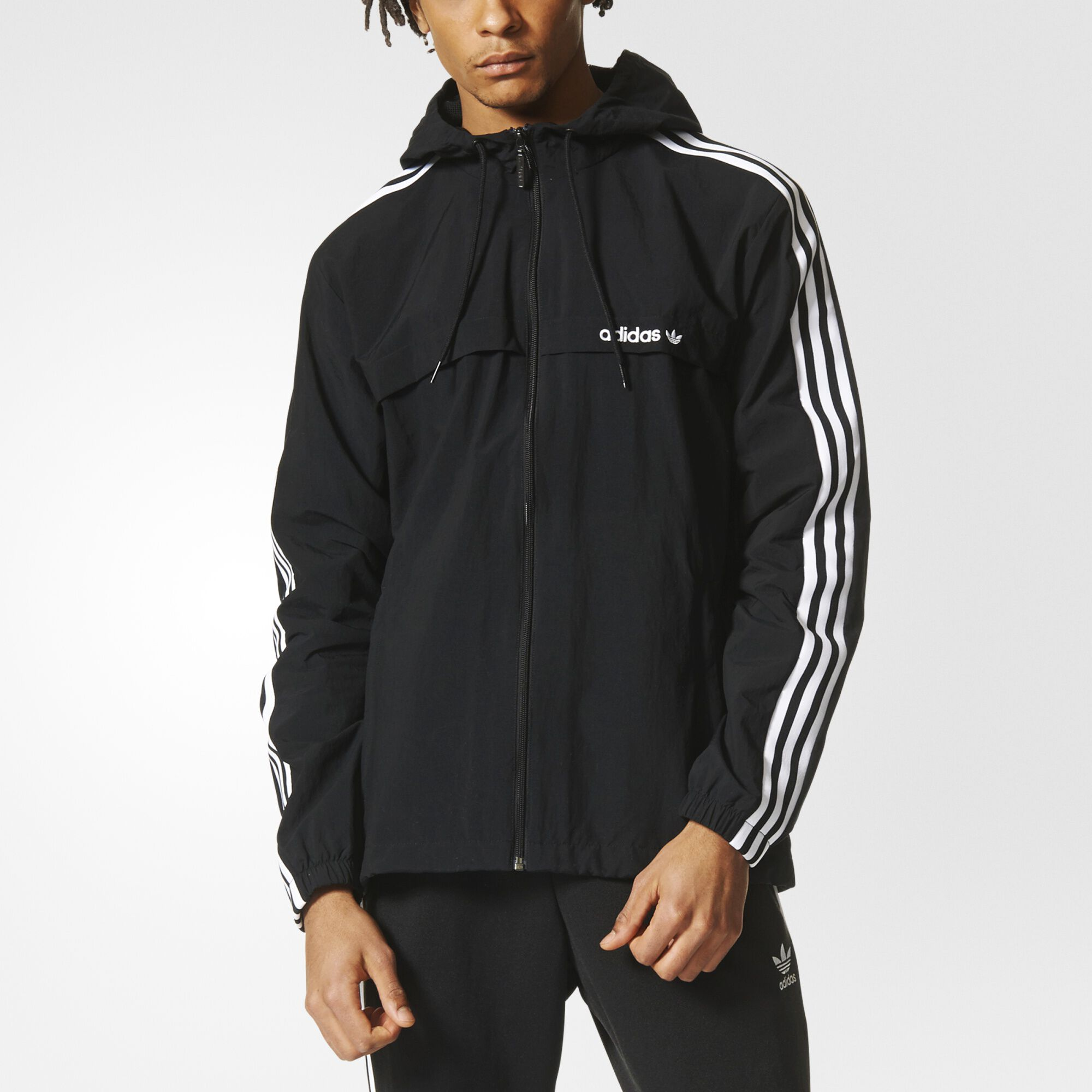 adidas black and blue jacket
