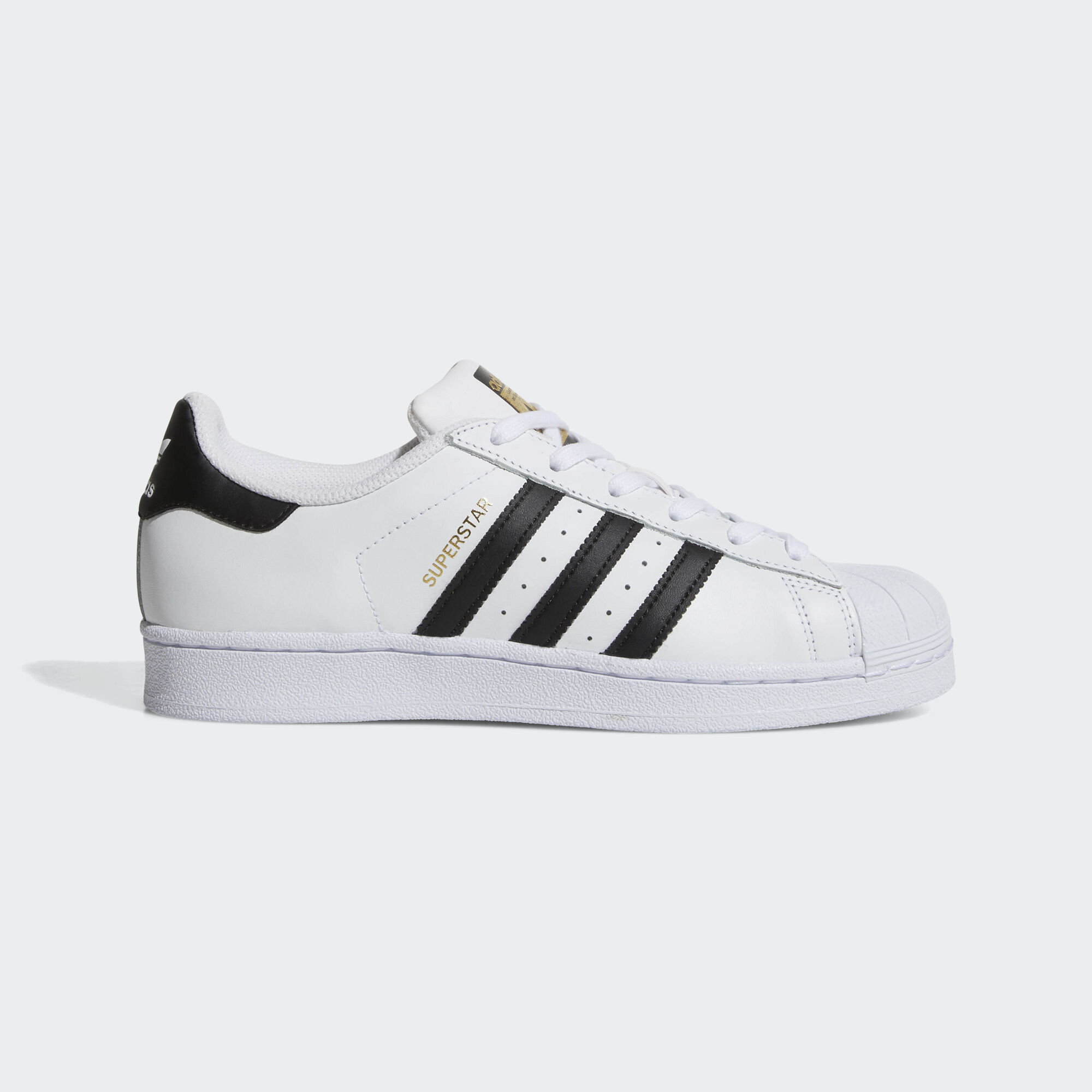 super popular c116b e29ac Adidas Superstar Black White Foundation Kids Trainers Office