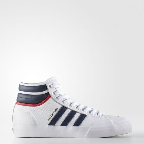 adidas - Matchcourt High RX2 Shoes Running White  /  Collegiate Navy  /  Scarlet BY4136