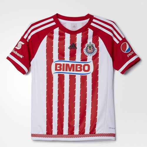 adidas - CD Guadalajara Home Replica Jersey Scarlet  /  White  /  Night Indigo AA1639