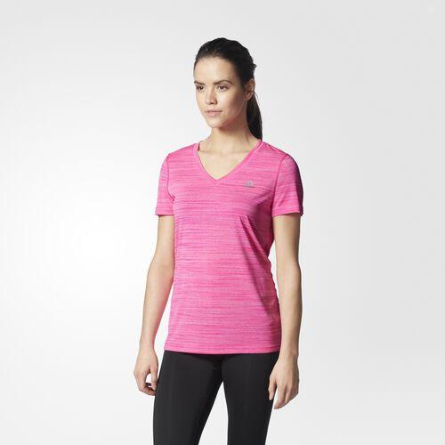 adidas - Ultimate V-Neck Tee Shock Pink S97550