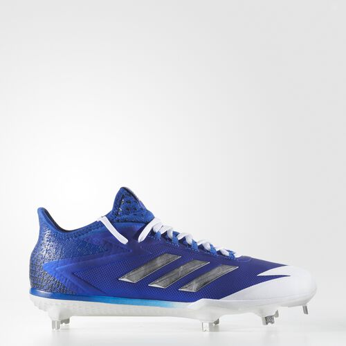 adidas - adizero Afterburner 4 Cleats Collegiate Royal  /  Metallic Silver  /  Running White CG4784