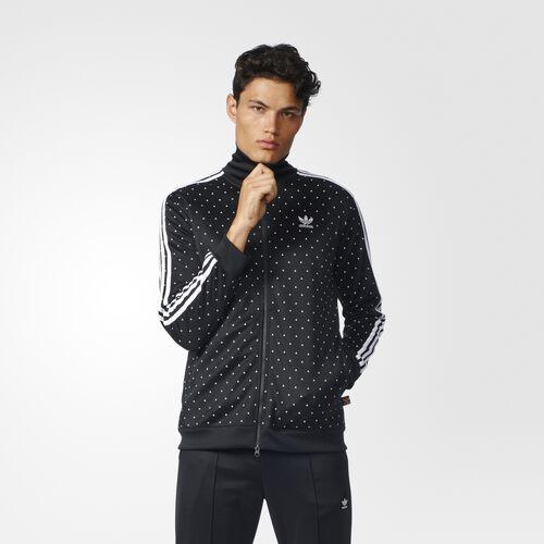 adidas - Pharrell Williams HU Track Jacket Black  /  White BR1821