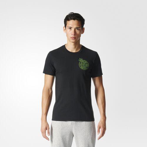 adidas - Tee Black  /  Semi Solar Green BP9057